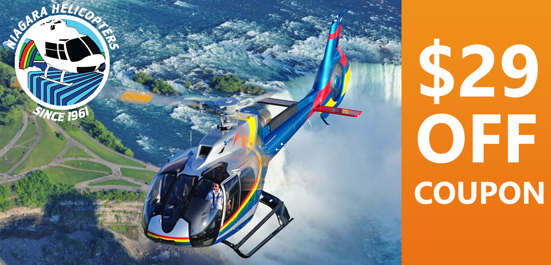 Niagara Helicopters 29 Dollars Off Coupon